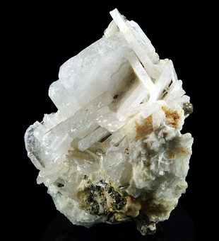 Baryte, Pyrite - Starciassa stope, Fortune section, Brosso mine, Brosso, Piedmont, Italy