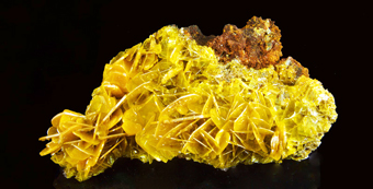 Wulfenite - Glove mine, Santa Rita Mts, Arizona, USA