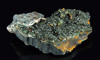 Libethenite - Rokana mine, Kitwe, Kitwe District, Copperbelt Province, Zambia