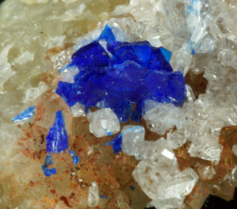 Linarite - Grand Reef mine, Laurel Canyon, Arizona, USA