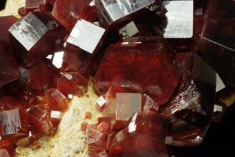 Vanadinite - ACIF mine, Mibladen Mining district, Morocco