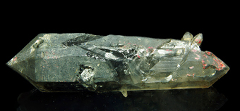 Quartz tourmaline included - Jinlong Hill, Heyuan, Hunan, China