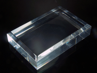 Set of 5 high quality plexiglas bases with beveled edges - 120x80x25.