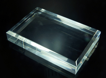Set of 5 high quality plexiglas base with beveled edges - 150x100x25