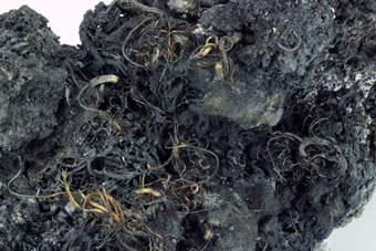 Silver on Acanthite - Imiter mine, Djebel Saghro, Souss-Massa-Draâ Region, Morocco