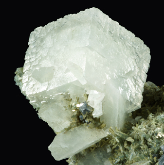 Calcite and Galena on Quartz - Madan ore field, Smolyan Oblast, Bulgaria