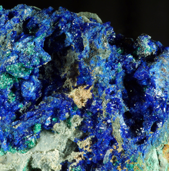 Linarite and Brochantite - Dos Adriana mine, Atacama Region, Chile