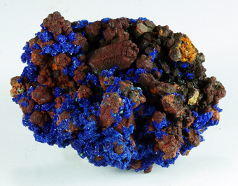 Azurite and Malachite on Quartz - Oum Sisi, Alnif, Meknès-Tafilalet Region, Morocco