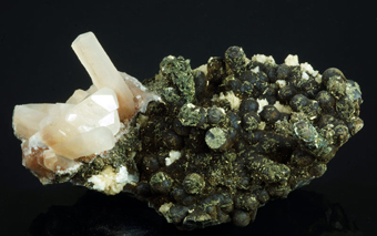 Calcite with Goethite - El Hammam mine, Meknès, Morocco