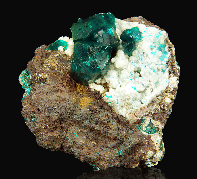 Dioptase - Sanda mine, Reneville, Republic of Congo