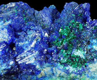 Linarite and Brochantite - Goulmina, Er Rachidia,  Meknès-Tafilalet Region, Morocco
