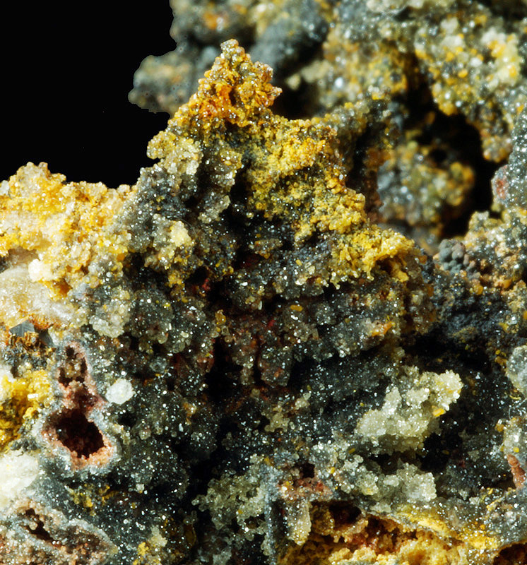 Willemite psd of Descloizite - Chah Milleh mine, Anarak District, Iran