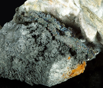 Löllingite and Silver - Weisser Hirsch mine, Schneeberg, Saxony, Germany