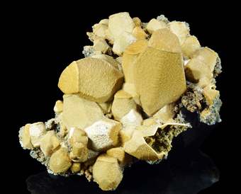 Siderite and Sphalerite after Calcite - Broken Hill mine, Aggeneys, Northern Cape Province, South Africa