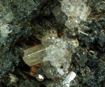 Phenakite and Tourmaline - Anjanabonoina pegmatites, Betafo District, Antananarivo Province, Madagascar