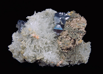 Galena, Quartz, Pyrite - 2nd Sovetskii mine, Dal'negorsk, Primorskiy Kray, Far-Eastern Region, Russia