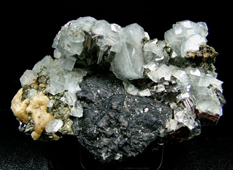 Fluorapatite, Arsenopyrite, Chalcopyrite - Panasqueira, Covilhã, Castelo Branco District, Portugal