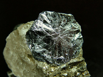 Molybdenite on Quartz - Moly Hill mine, La Motte, Abitibi RCM, Abitibi-Témiscamingue, Québec, Canada