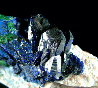 Azurite with Malachite - Milpillas Mine, Cuitaca, Mun. de Santa Cruz, Sonora, Mexico