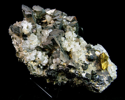 Arsenopyrite with Chalcopyrite and Topaz - Panasqueira, Covilhã, Castelo Branco District, Portugal