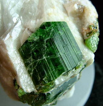 Chrome-Tourmaline (Dravite) - Commander Mine, Nadonjukin, Simanjiro District, Manyara Region, Tanzania