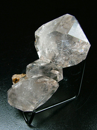 Quartz ver. Herkimer Diamond - Middleville, Town of Newport, Herkimer Co., New York, USA