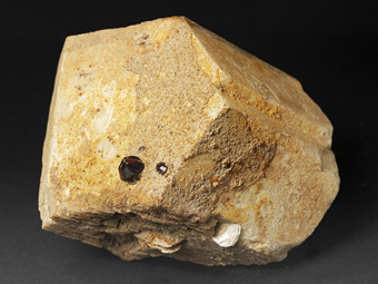 Orthoclase, Spessartine  -  Skardu District,  Baltistan,  Gilgit-Baltistan (Northern Areas),  Pakistan