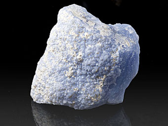 Natural blue Chalcedony, ps. after Fluorite - Ngabu, Chiwawy-Nsanje District, nel Malawi