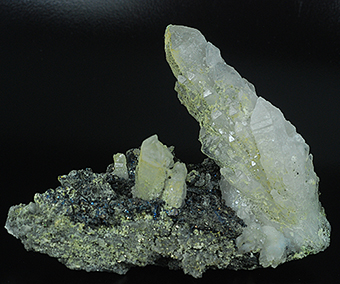 Quartz and chalcopyrite - Baia Sprie mine - Baia Sprie - Maramures Co. - Romania
