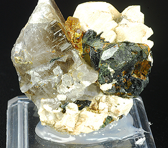 Monazite-Ce, orthoclase, aegirine and smoky quartz - Mount Malosa - Zomba distr. - Malawi