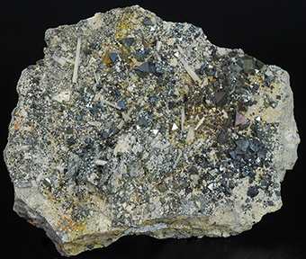 Hydroxylapatite (var. Carbonate-rich Hydroxylapatite) and magnetite - David Mosiah claim - Cerro Huañaquino - Potosí Deptm. - Bolivia