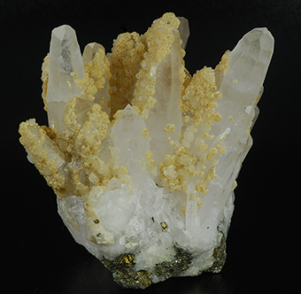 Quartz and calcite - Cavnic mine - Cavnic - Maramures Co. - Romania