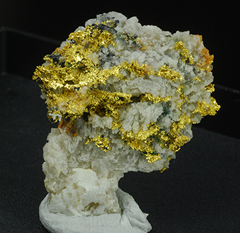 Orthobrannerite over gold - Brusson mine - Brusson - Ayas Valley - Aosta Valley - Italy