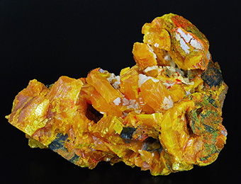 Orpiment, realgar and calcite - Jiepaiyu mine - Shimen AS-(Au) Deposit - Hunan prov. - China