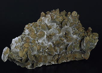 Calcite with pyrite and chalcopyrite - Daye Co. - Huangshi Pref. - Hubei Prov. - China