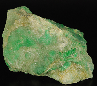 Omphacite rich in chromium (Alpine jade) - High Pellice valley - Massif of Monviso - Piedmont - Italy