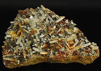 Argentotetrahedrite-Fe, quartz and jamesonite - Shijangshan mine - Linxi -Ulanhad League - Inner Mongolia - China
