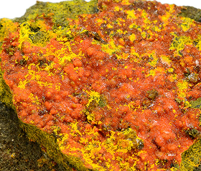 Pascoite - Vanadium Queen Mine, La Sal, La Sal District, San Juan Co., Utah, USA