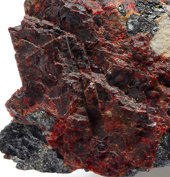 Zincite with Franklinite - Sterling Mine, Sterling Hill, Ogdensburg, Franklin Mining District, Sussex Co., New Jersey, USA