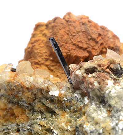 Rutile - Mt. Cervandone area, Devero Alp, Baceno, Devero Valley, Antigorio Valley, Ossola Valley, Verbano-Cusio-Ossola Province, Piedmont, Italy