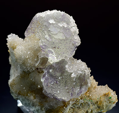 Fluorite with Quartz - Mex Tex Mine - Hansonburg mining district - Socorro County - New Mexico - Usa