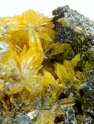 Hemimorphite with Greenockite - Friedensville, Saucon Valley, Upper Saucon Township, Lehigh Co., Pennsylvania, USA